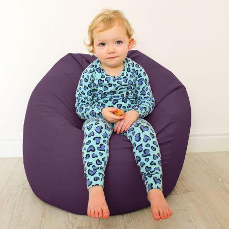 Kids Classic Beanbag - Cotton - Purple