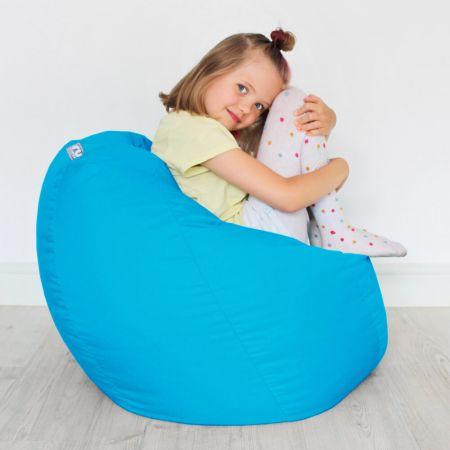 Kids Classic Beanbag - Cotton - Turquoise