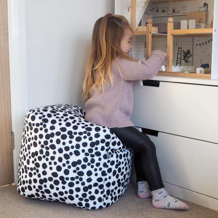 Dalmatian Spots Beanbag Cube
