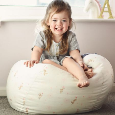 Belle and Boo Small Kids Beanbag - Dandelion Pattern