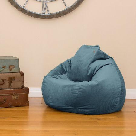 Teal Velvet Slouch bag Beanbag