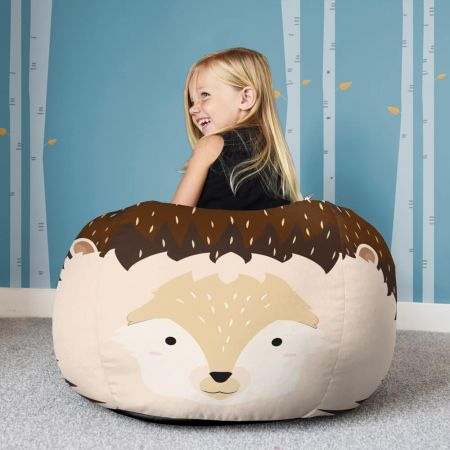 Beanbag Front Hedgehog Face