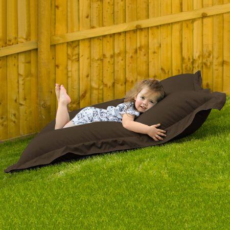Indoor Outdoor Junior Squashy Squarbie Beanbag in Brown