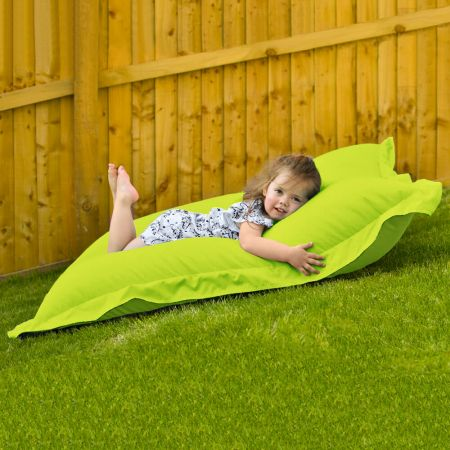 Indoor Outdoor Junior Squashy Squarbie Beanbag in Lime Green