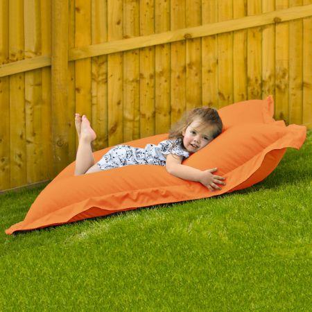 Indoor Outdoor Junior Squashy Squarbie Beanbag in Orange