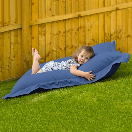Indoor Outdoor Junior Squashy Squarbie Beanbag in Royal Blue
