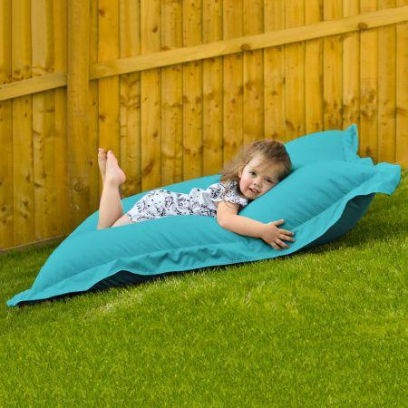 Indoor Outdoor Junior Squashy Squarbie Beanbag in Turquoise