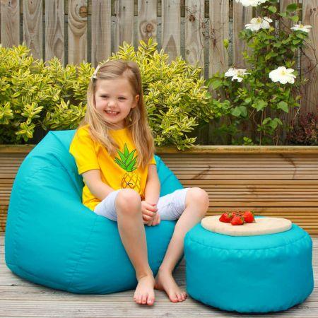 Turquoise Indoor/Outdoor Kids Classic Beanbag