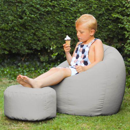 Kids Classic Beanbag - Indoor/Outdoor - Platinum Grey