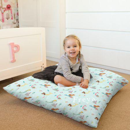 Belle & Boo Mermaid Play Floor Cushion