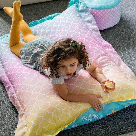 Mermaid Tail Squarbie Kids Beanbag - Mermaid ~Ombre side