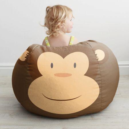 Kids Monkey Bean Bag Small