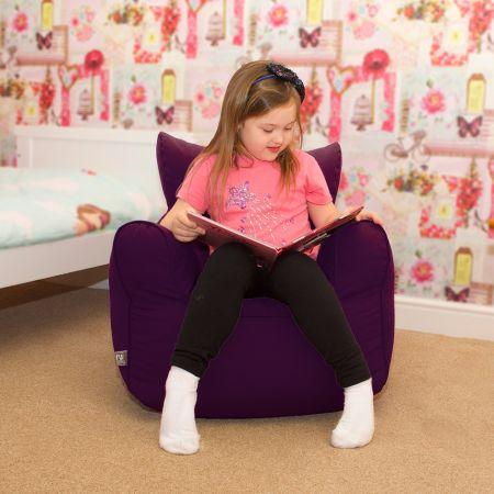 Children's Beanbag Armchair - Purple