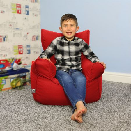 Children's Armchair Beanbag - Trend - Red