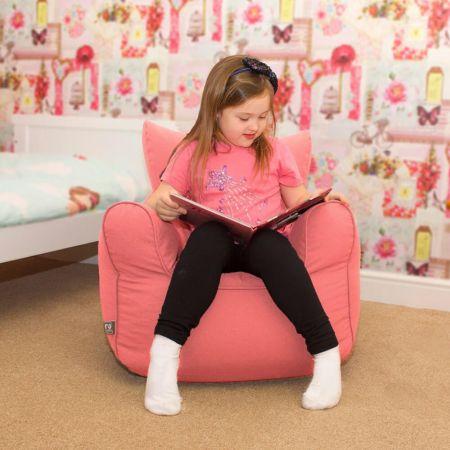 Children's Trend Armchair Bean Bag - Coral