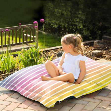 Ombre Stripe Junior Indoor/Outdoor Squarbie Beanbag