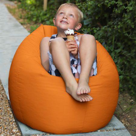 Orange Indoor/Outdoor Kids Classic Beanbag