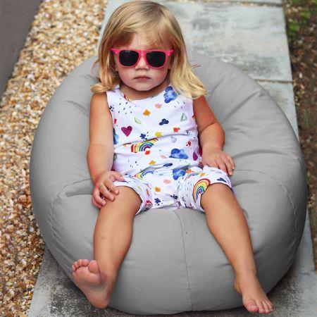 Small Kids Beanbag - Indoor/Outdoor - Platinum Grey