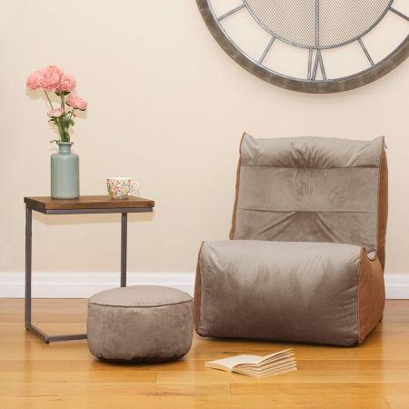 Pebble Grey Velvet Busby Chair
