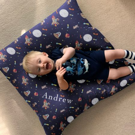 Belle and Boo Space Adventure Kids Floor Cushion