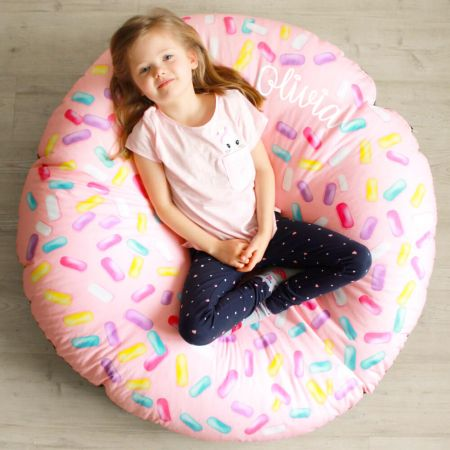 Strawberry Donut Beanbag