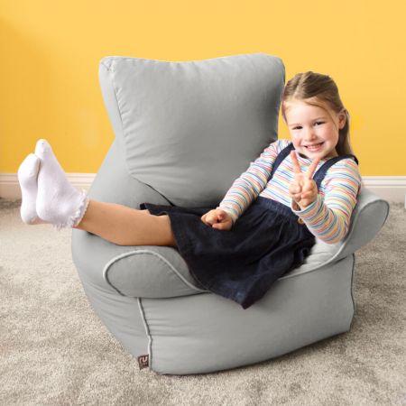 Trend Children's Chair Beanbag Armchair in Platinum Grey
