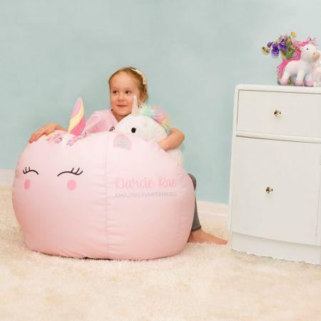 Kids Unicorn Beanbag with 3D Horn