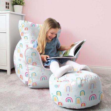 Rainbow Sky Children's Beanbag Chair