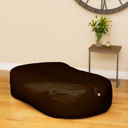 Antique Brown Real Leather Large 150cm Slob Slab© Bean Sofa  Bean bags
