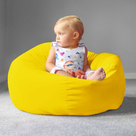 Trend Small Kids Beanbag In Yellow