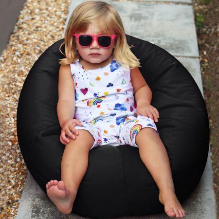 Small Kids Indoor/Outdoor Beanbag Black