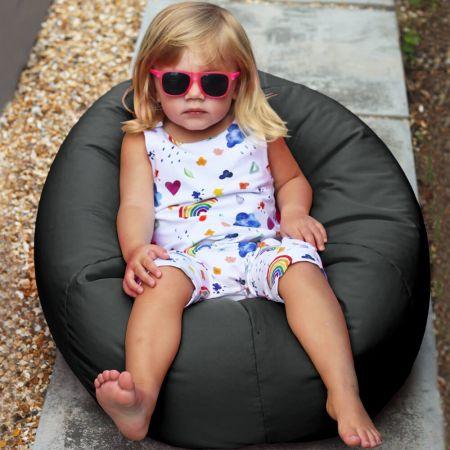 Small Kids Indoor/Outdoor Beanbag in Grey
