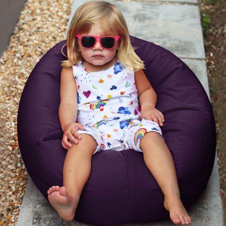 Small Kids Indoor/Outdoor Beanbag in Purple