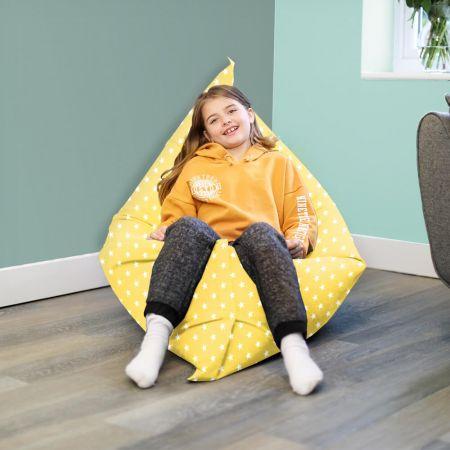 Yellow Squarbie beanbag - Large