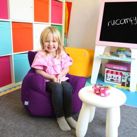 Toddler Armchair Bean Bag in Purple