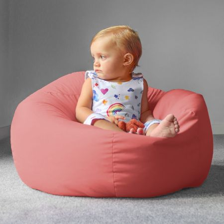 Trend Small Kids Beanbag In Coral