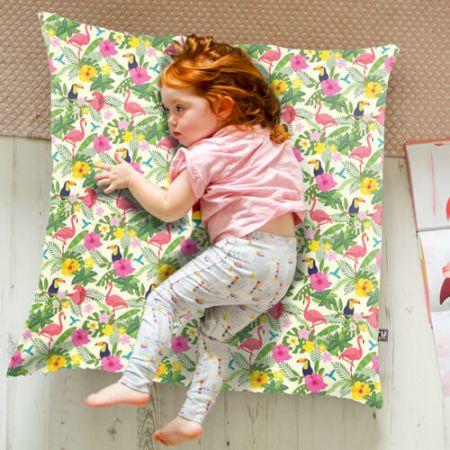 Tropical Birds Floor Cushion Indoor/Outdoor