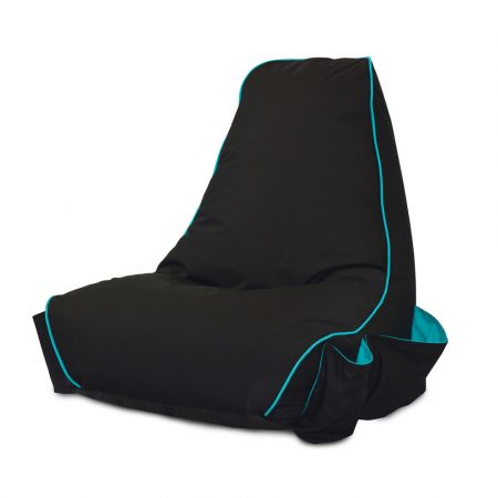 Black rugame Gamer Bean Bag Chair - Turquoise
