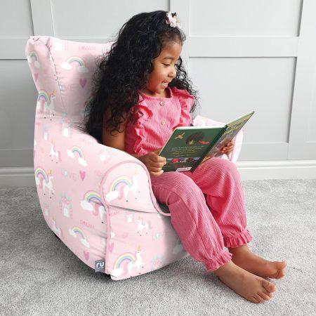 Unicorn Castle Childrens Beanbag Chair