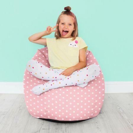 Kids Classic Stars Bean Bag-Baby Pink