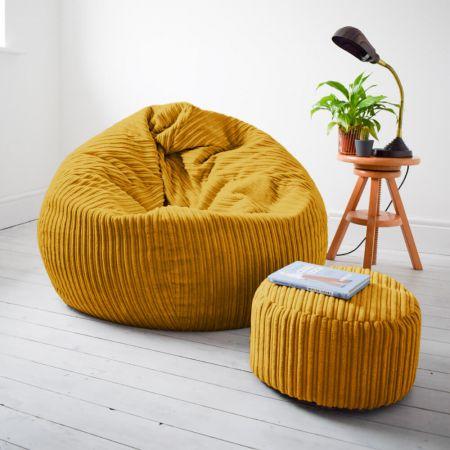 Slouchbag™ Bean Bag  - Jumbo Cord - Mustard