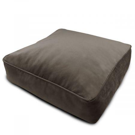 Velvet Square Floor Cushion - Mole