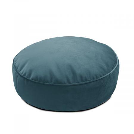 Velvet Round Floor Cushion - Teal