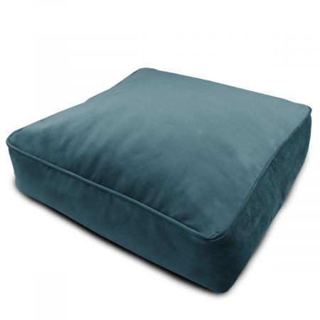 Velvet Square Floor Cushion - Teal