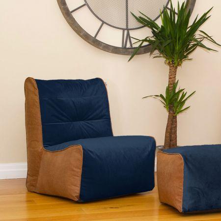 Peacock Velvet Busby Chair