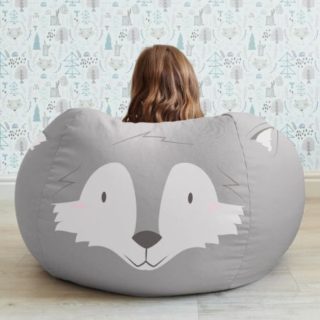 Wolf Animal Beanbag Face - Medium