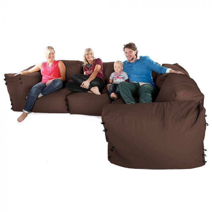 Corner Sofa Bean Bags 7pc Deluxe