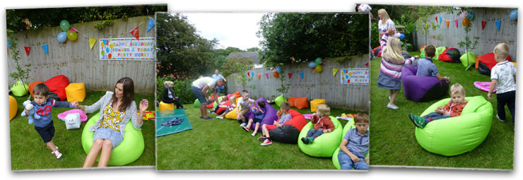 Kids Birthday Party with beanbags